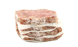 Pila congelata di hamburger Fotografie Stock