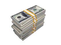 Pila de $100 cuentas Foto de archivo