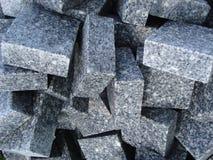 Pila de adoquines del granito Foto de archivo