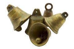 Pila de alarmas de cobre amarillo Fotos de archivo