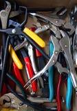 Pila de alicates Foto de archivo libre de regalías