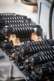 Pila de amortiguadores de choque de la motocicleta Fotos de archivo