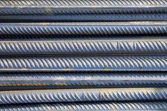 Pila de barras de metal Fotografía de archivo