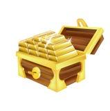 Pila de barras de oro aisladas en blanco libre illustration