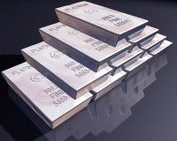 Pila de barras del platino Imagen de archivo libre de regalías