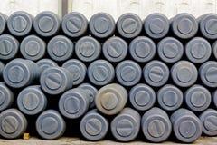 Pila de barriles Foto de archivo libre de regalías