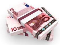 Pila de billetes de banco EURO Imagen de archivo libre de regalías