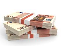 Pila de billetes de banco EURO Imagen de archivo