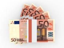 Pila de billetes de banco EURO Foto de archivo libre de regalías