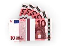 Pila de billetes de banco EURO Foto de archivo