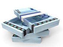 Pila de billetes de banco EURO Imágenes de archivo libres de regalías