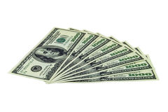 pila de 1000 billetes de dólar Fotos de archivo libres de regalías