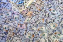 Pila de $100 billetes de dólar Fotografía de archivo libre de regalías