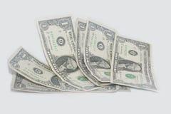 Pila de billetes de dólar del americano uno Fotografía de archivo libre de regalías
