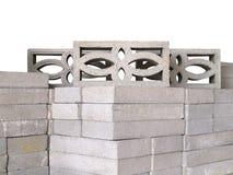 Pila de bloques concretos de la ventilación Fotografía de archivo