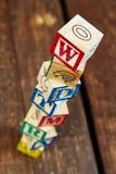 Pila de bloques de madera Fotografía de archivo libre de regalías