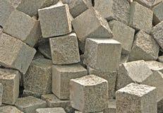 Pila de bloques de piedra Fotos de archivo