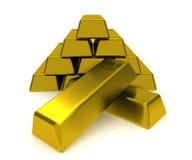 Pila de bloques del oro Fotografía de archivo libre de regalías