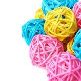 Pila de bolas de la paja aisladas Imagen de archivo