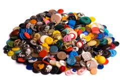 Pila de botones Fotos de archivo libres de regalías