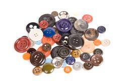 Pila de botones aislados Imagen de archivo libre de regalías