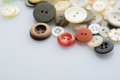 Pila de botones de costura Foto de archivo libre de regalías