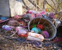 Pila de boyas y de cuerdas Imagen de archivo libre de regalías