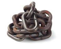 Pila de cadena del metal Foto de archivo libre de regalías