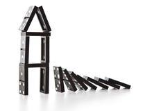 Pila de caer de los dominós Fotografía de archivo libre de regalías