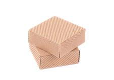 Pila de cajas cerradas Imágenes de archivo libres de regalías