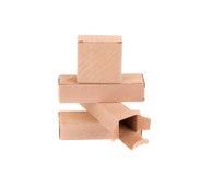 Pila de cajas de cartón Imagen de archivo libre de regalías