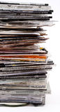 Pila de cajas del disco óptico fotografía de archivo libre de regalías