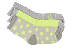 Pila de calcetines del niño aislados Fotografía de archivo