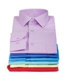 Pila de camisas foto de archivo libre de regalías