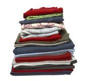 Pila de camisas de la ropa Imagen de archivo