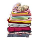 Pila de camisas de la ropa Foto de archivo