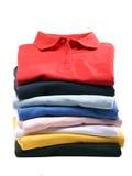Pila de camisas de polo Imagen de archivo libre de regalías