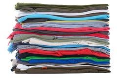 Pila de camisetas limpias Imágenes de archivo libres de regalías