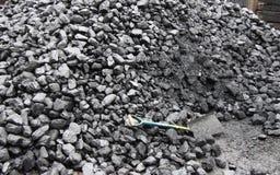 Pila de carbón. Fotografía de archivo