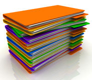 Pila de carpetas Imágenes de archivo libres de regalías