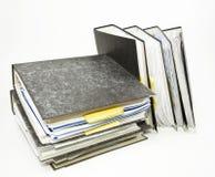 Pila de carpetas de fichero Fotografía de archivo libre de regalías