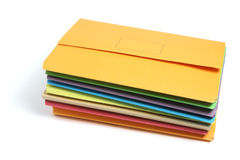 Pila de carpetas del documento Foto de archivo libre de regalías