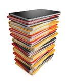 Pila de carpetas y de ficheros. icono 3D aislado Imagen de archivo libre de regalías