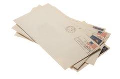Pila de cartas del correo Fotos de archivo libres de regalías