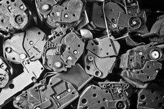 Pila de cartuchos viejos de las impresoras laser Fotos de archivo libres de regalías