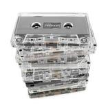 Pila de casetes audios fotografía de archivo
