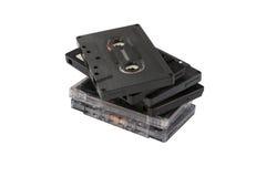 Pila de casetes compactos fotografía de archivo libre de regalías