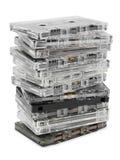 Pila de cassettes audios fotografía de archivo libre de regalías
