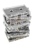 Pila de cassettes audios foto de archivo libre de regalías