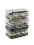 Pila de cassettes audios fotos de archivo